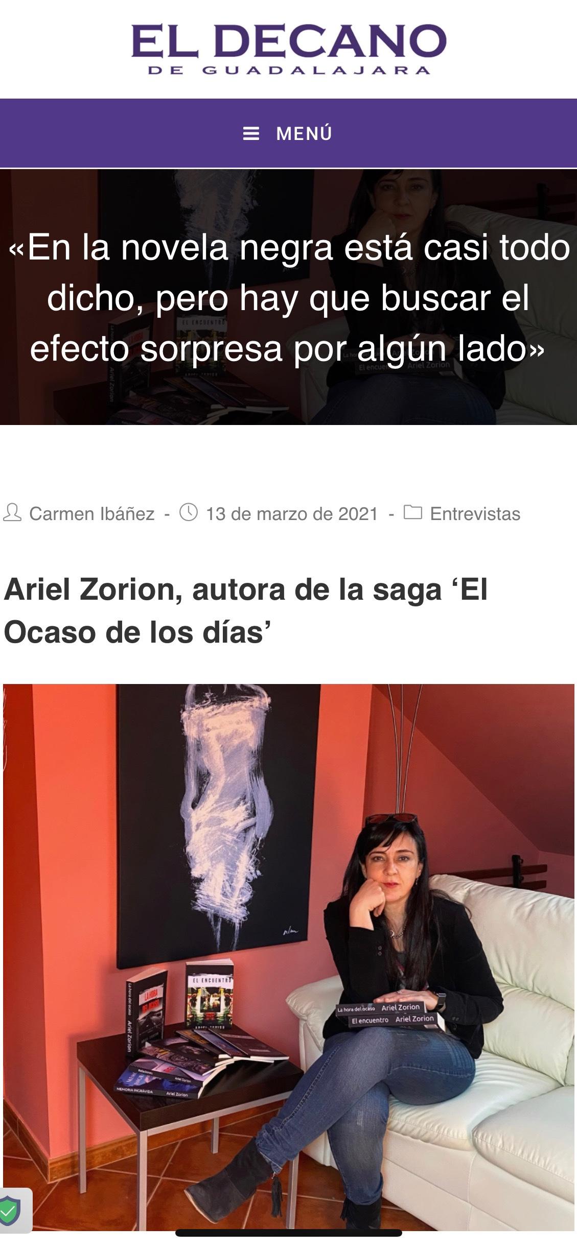 Entrevista en El Decano deGuadalajara